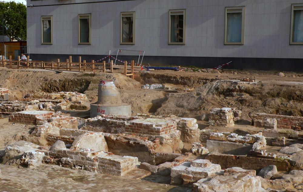 die Ausgrabungsreste des Dominikanerklosters in Berlin