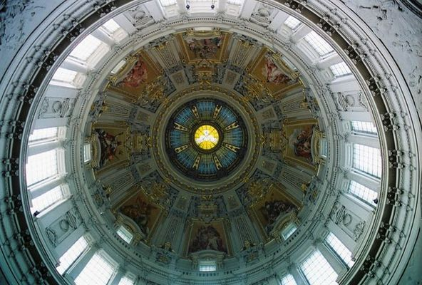 die Aussicht der Kuppel der Kathedrale in Berlin