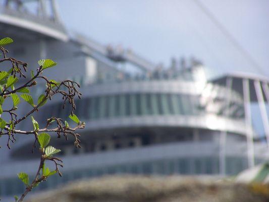 Die Aussichtsplattform sail-city in Bremerhaven...