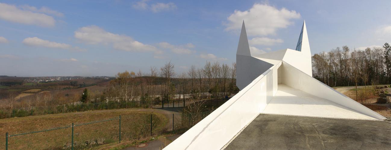 Die Autobahnkirche zu Wilnsdorf...