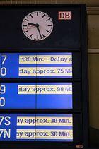 Die Bahn ist pünktlich!