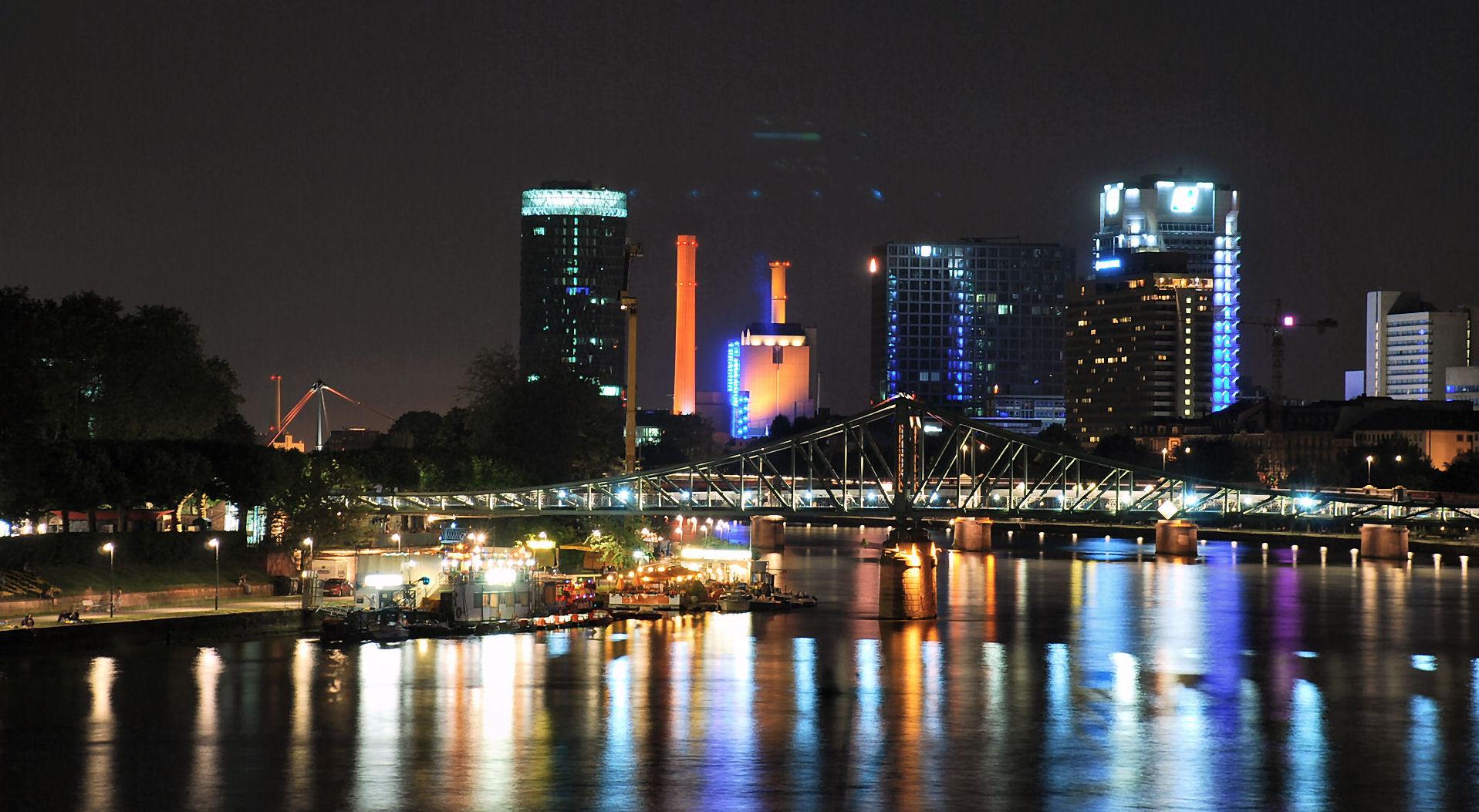 Die Banken Stadt bei Nacht!!!