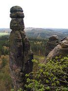 Die Barbarine über der erwachenden Sächsischen Schweiz