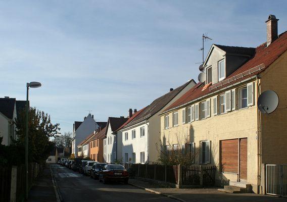 Die Bebo-Wager-Straße in Pfersee-Nord