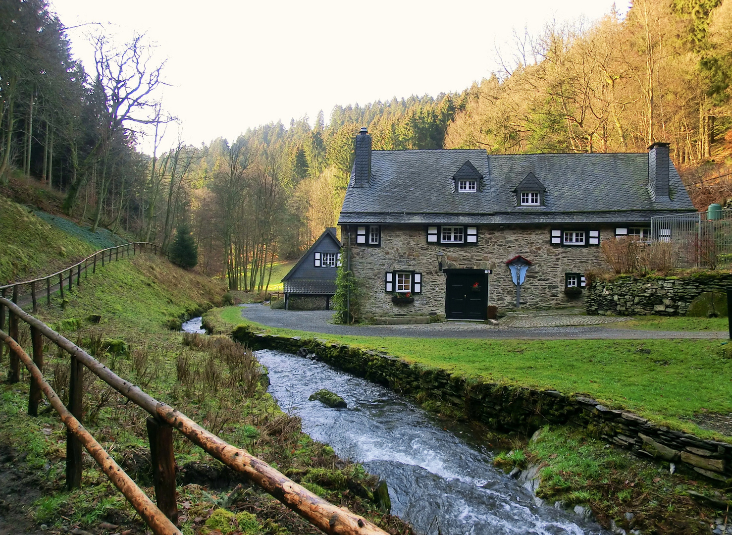 Die Belgenbacher Mühle in der Eifel