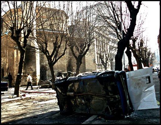 die Belgrader Moschee - am Morgen danach
