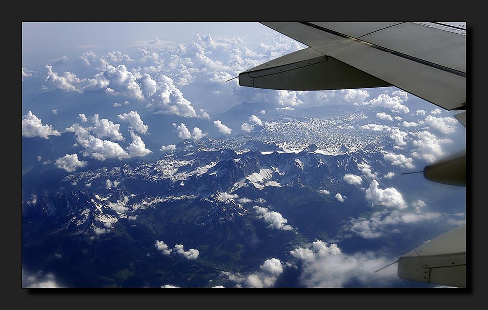 Die Berge mal von oben