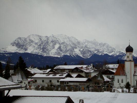 Die Berge sind weiß