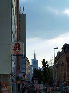 die Bergerstraße abends um 18.30 Uhr