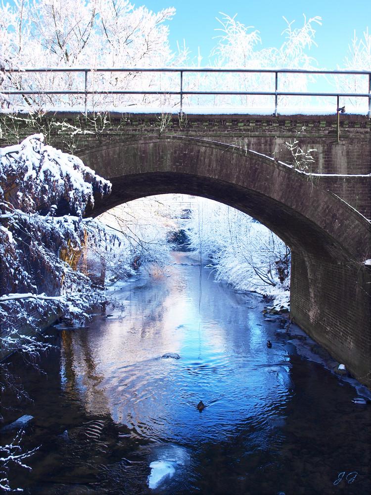 die Berkel im Winter