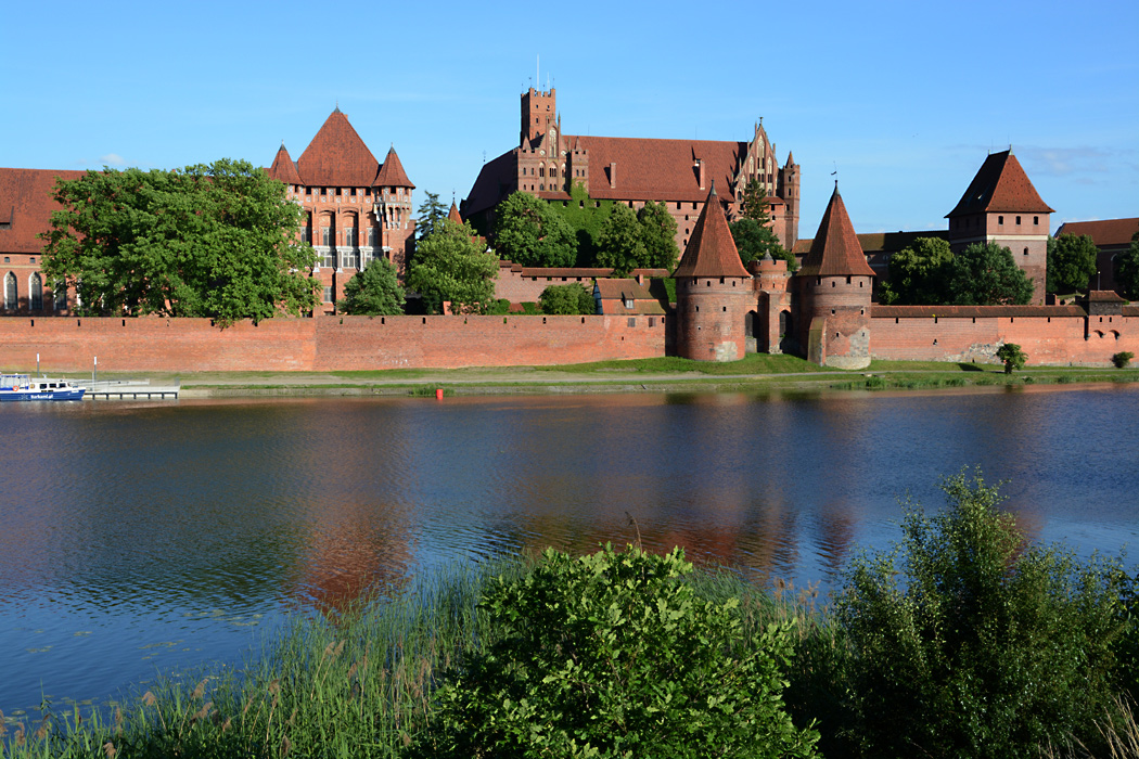 Die berühmte Marienburg an der Nogat