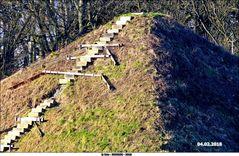 Die beschädigte Wasserpyramide in Branitz