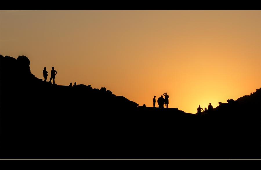 Die Besichtigung des Sonnenuntergangs