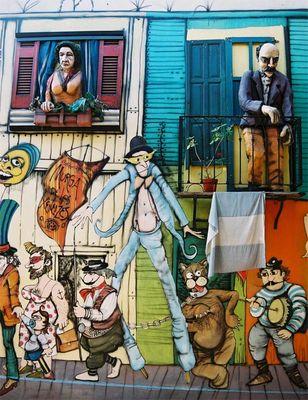Die Bewohner von La Boca