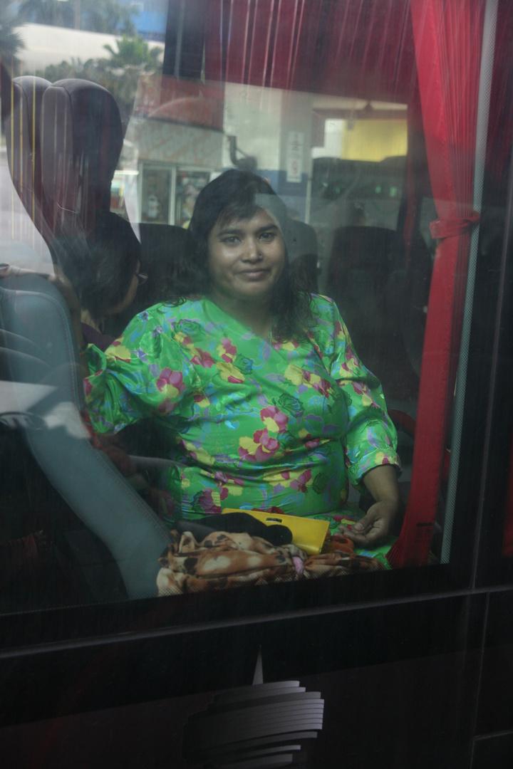 Die Bild habe ich im Bus nach Port Dickson gemacht