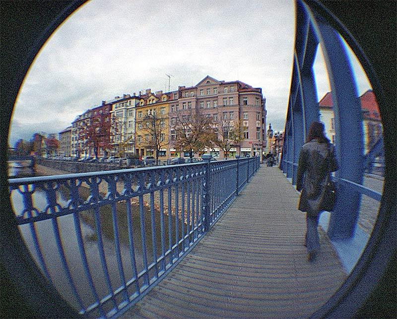 """die """"blaue Brücke"""" in Budweis"""