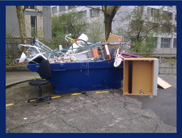 Die blaue Müllkippe...