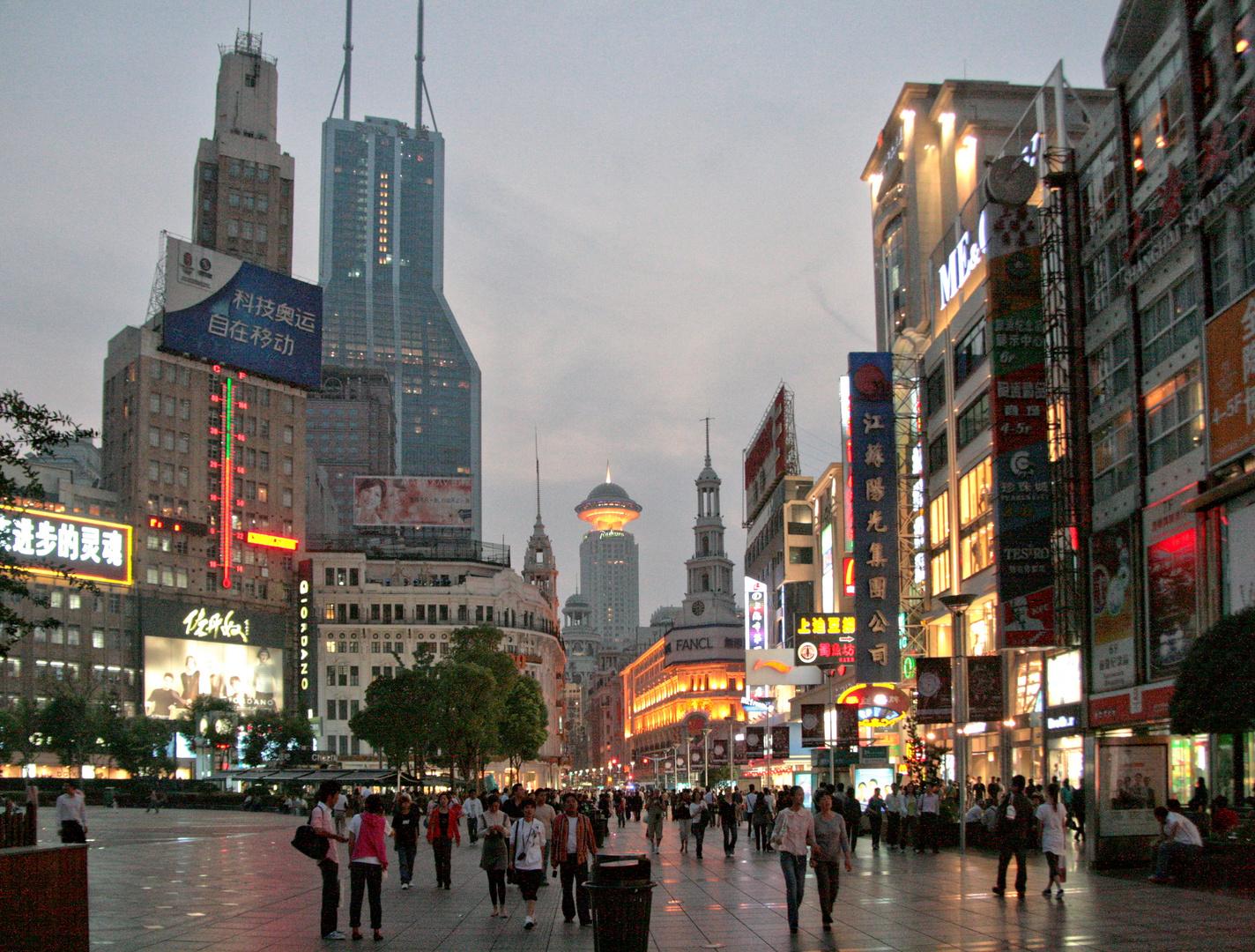 """Die """"Blaue Stunde"""" in Shanghai"""
