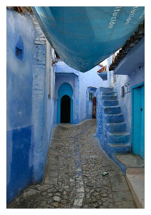 Die blaue Treppe...
