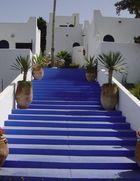 Die blaue Treppe - Les grottes