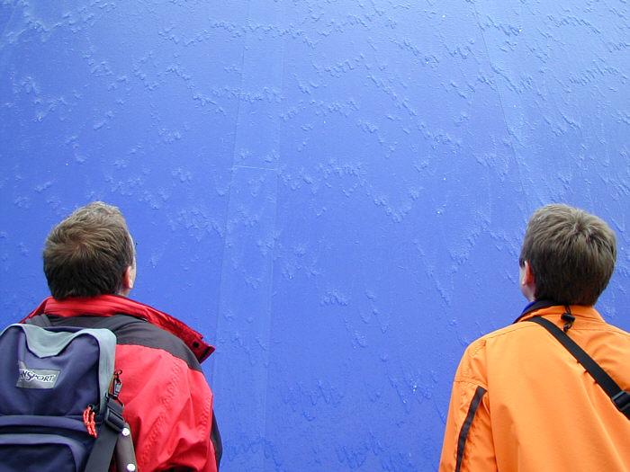 die blaue Wand