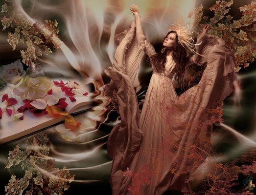 Die Blütenzauberin in ihrem Reich