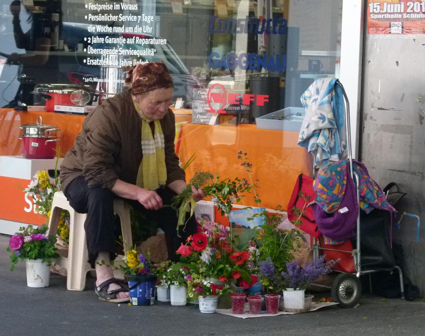 die Blumenfrau