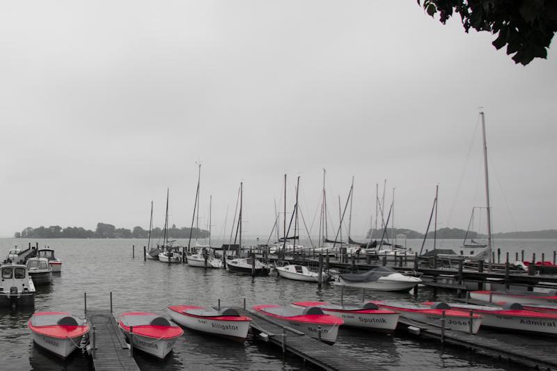 Die Boote am Ufer