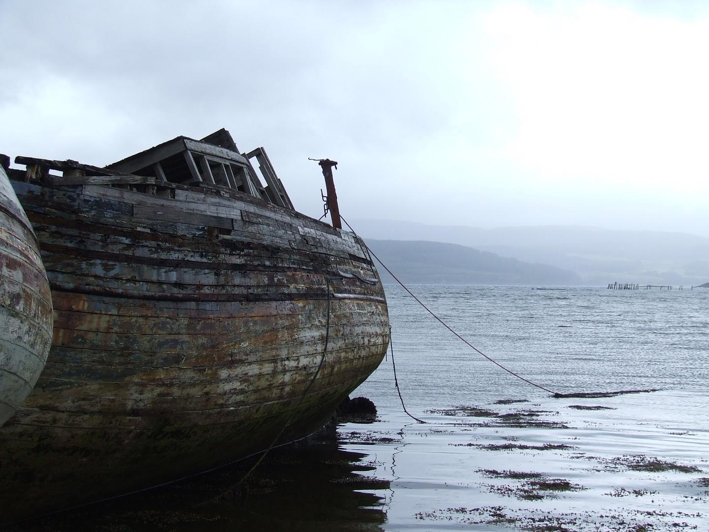 Die Boote an der Insel Mull