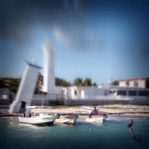 die Boote von Puerto Morelos