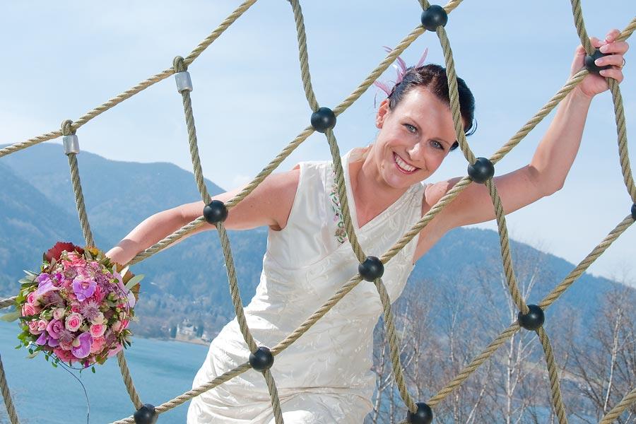 die Braut ist bestens vernetzt
