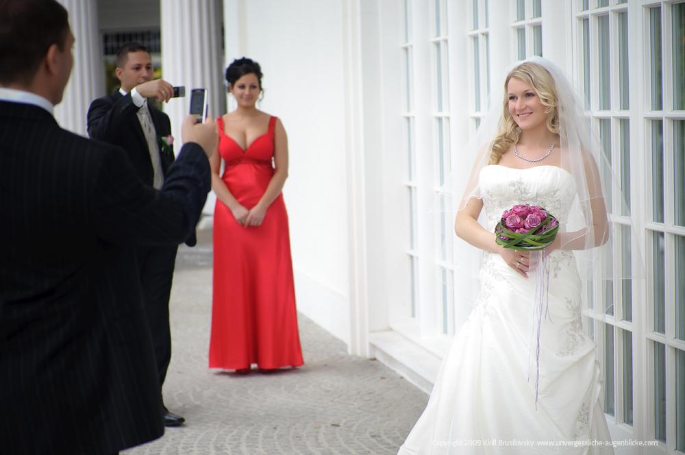 Die Braut steht im Mittelpunkt