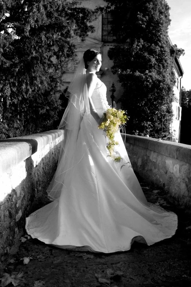 Die Braut und ihr Strauss