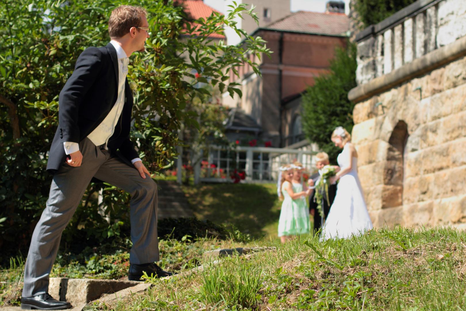 Die Braut wartet schon...