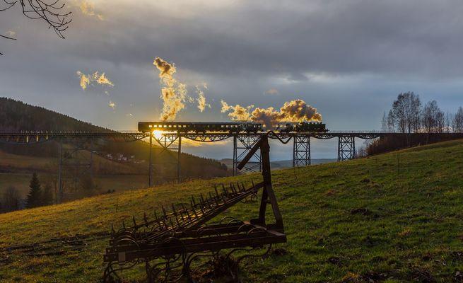 Die Brücke von Markersbach am 30.01.16