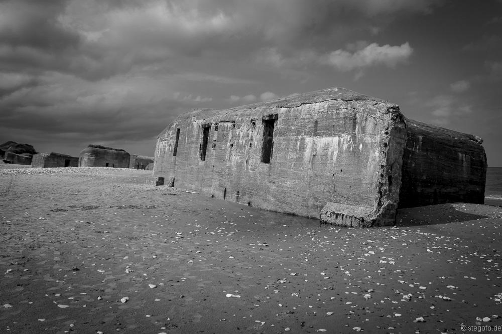 Die Bunker am Strand von Vigsø