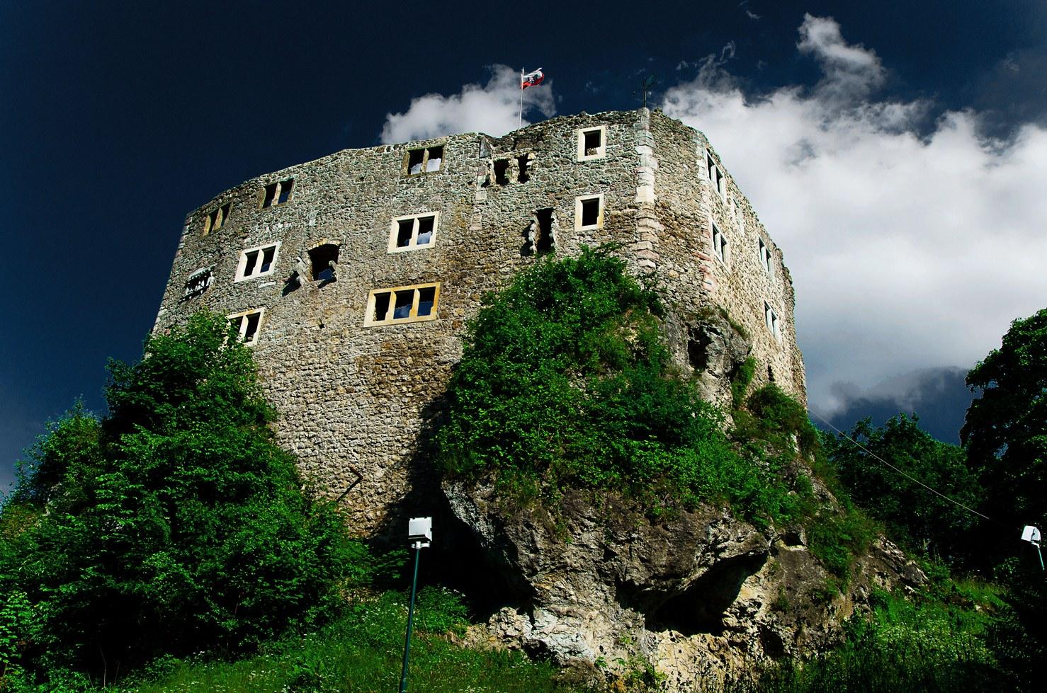 Die Burgruine in Bab Liebenstein