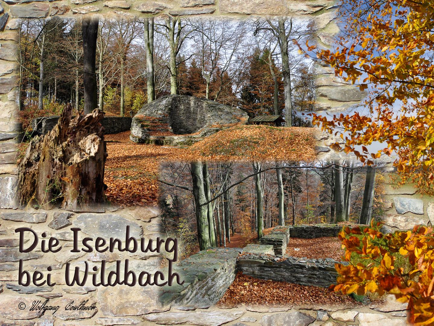 Die Burgruine Isenburg bei Wildbach nördlich von Schneeberg