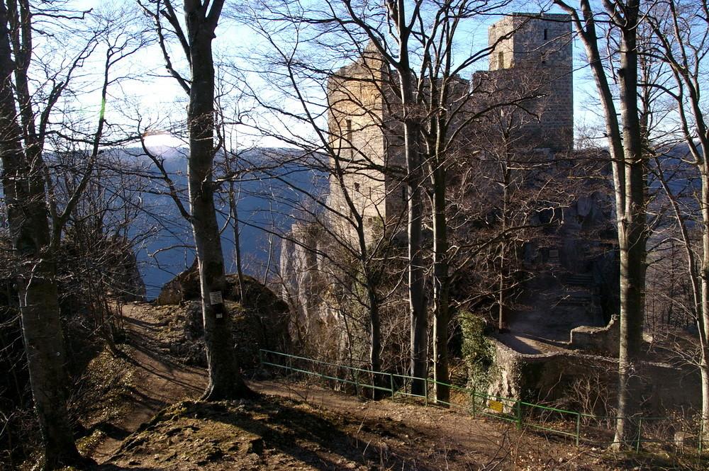 Die Burgruine Reußenstein