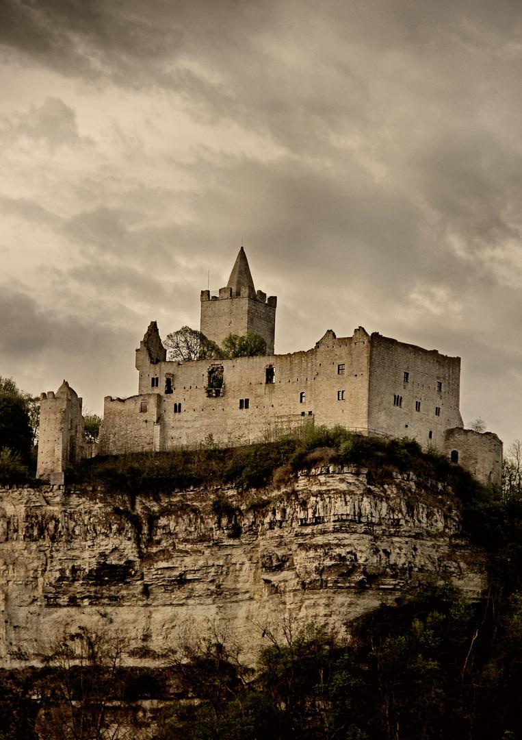 Die Burgruine Rudelsburg (2)