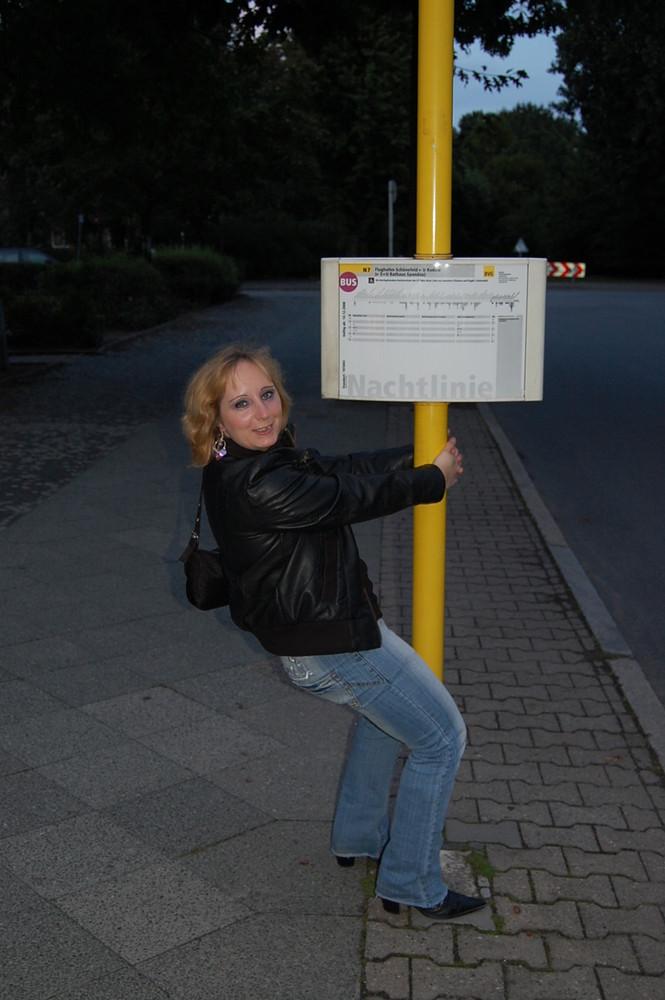 die Bushaltestelle und ich