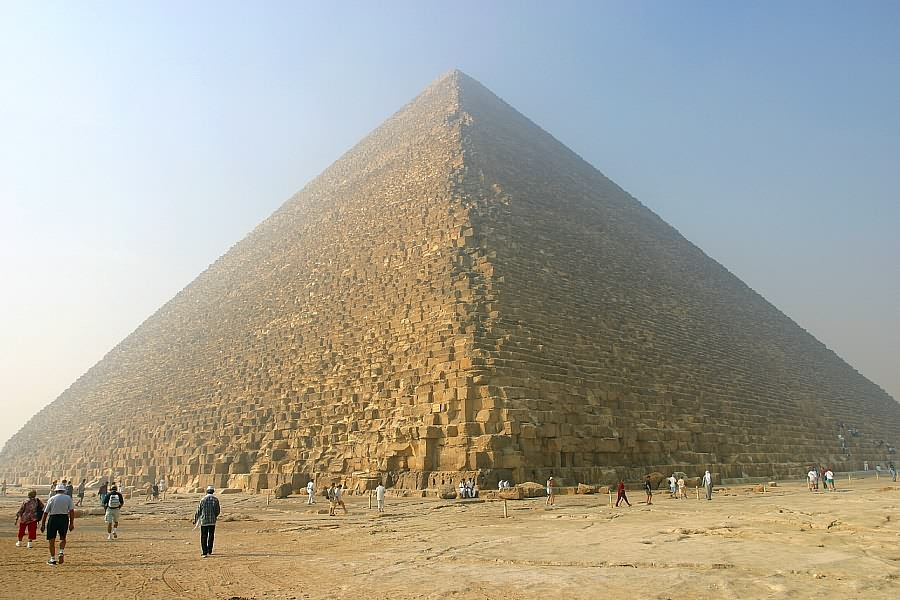 Die Cheops-Pyramide in Giza