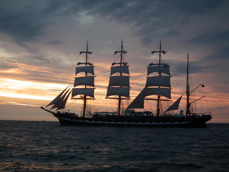 Die Cydow in der Ostsee bei Rostock