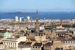 Die Dächer Edinburghs