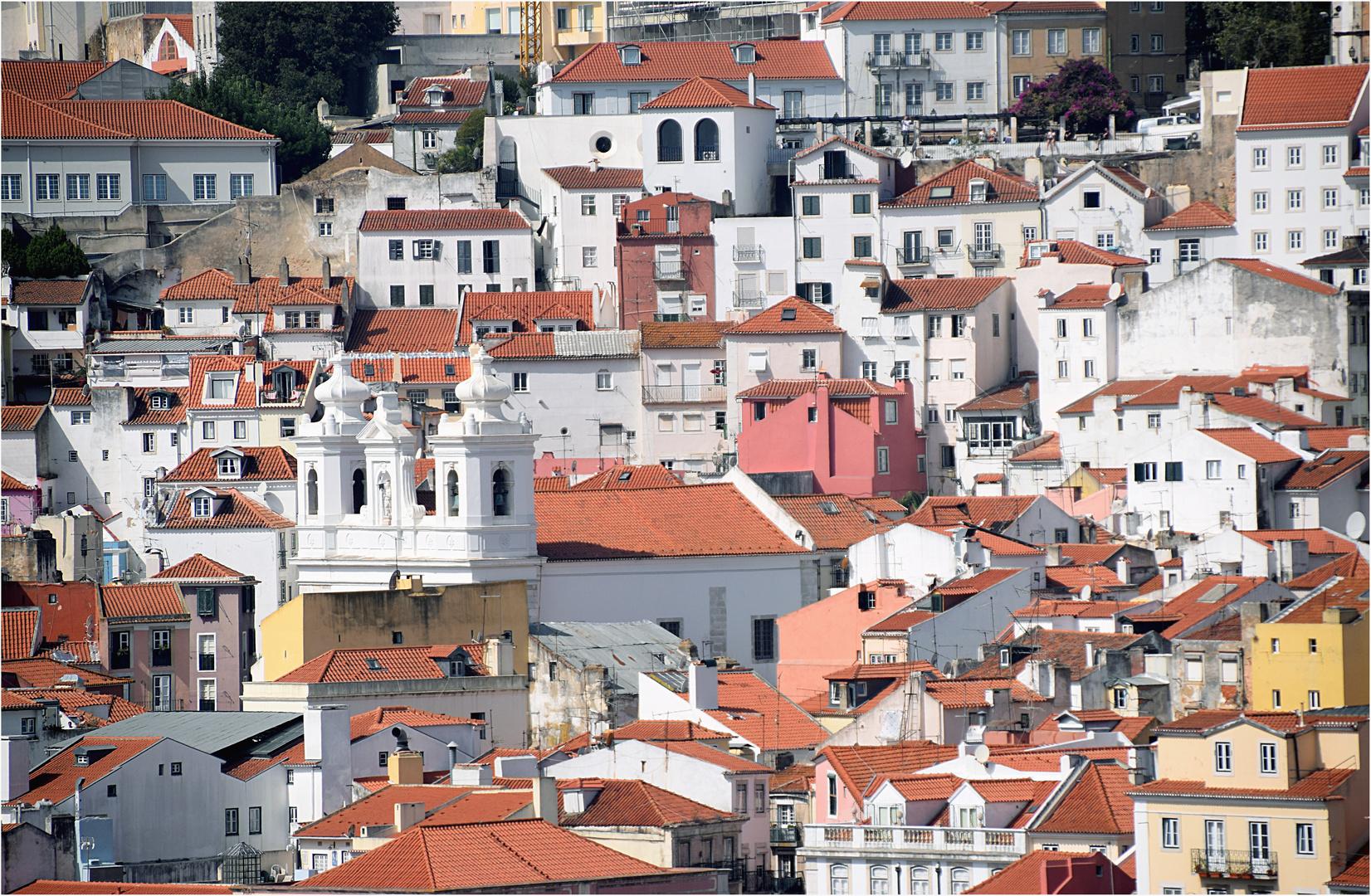 die Dächer von Lissabon