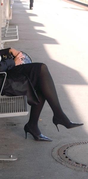 Die Dame in Schwarz