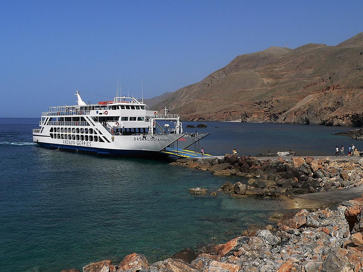 Die Daskalogiannis , Fähre nach Agia Roumeli