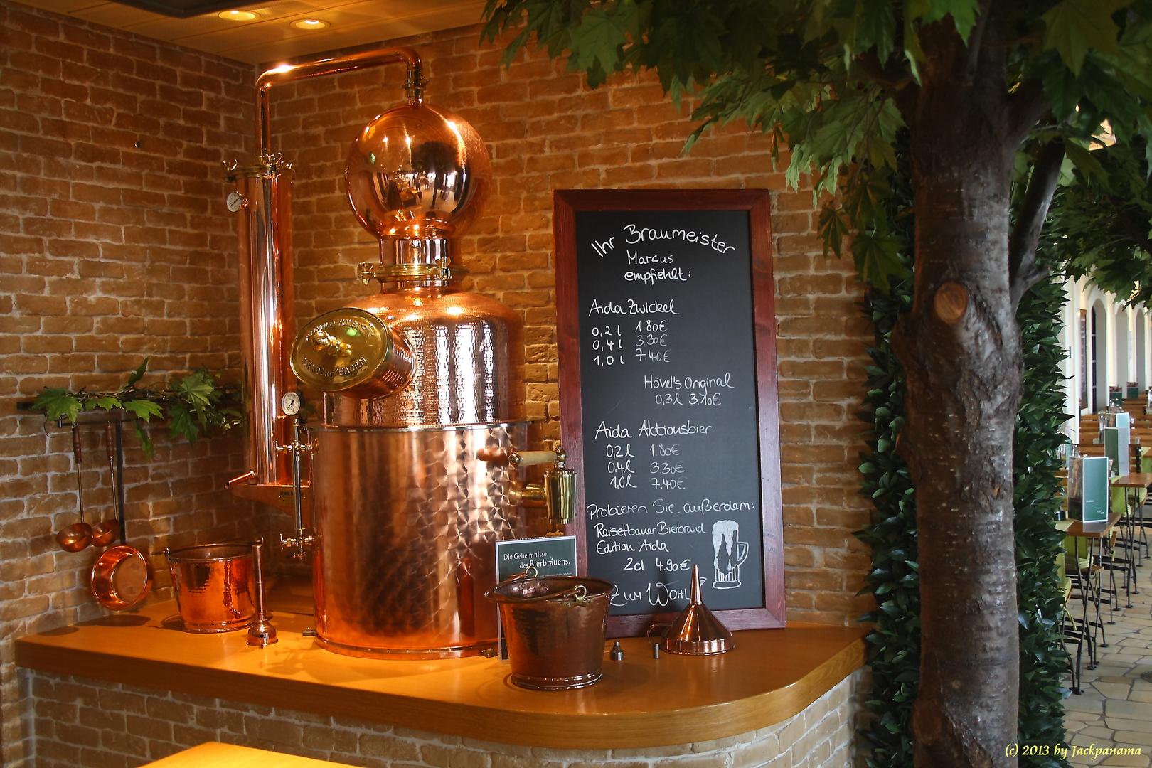 Die Distille an Bord der AIDAblu