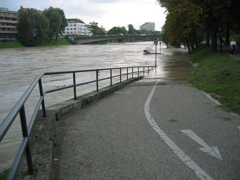 Die Donau bei Hochwasser