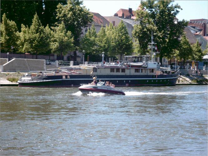 Die Donau mit Bote